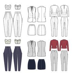 Set of womens clothes vector
