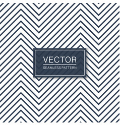 simple seamless zigzag pattern blue and white vector image