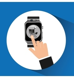 Smart watch blood pressure wearable healthy vector