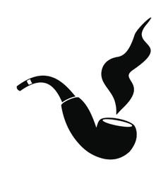 Smoking pipe black simple icon vector image