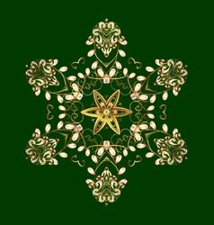 snowflake mosaic icon graphic element decoration vector image