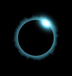 Solar eclipse aqua color vector