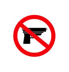 Stop gun the dangerous sign of icon vector