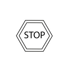 Stop road sign icon vector
