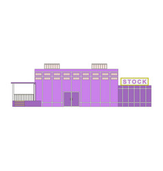 stores and shops buildings icons set isolated on vector image