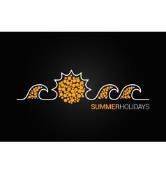 Summer design background vector
