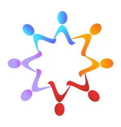 Teamwork group logo vector image