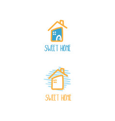 template icon houses vector image