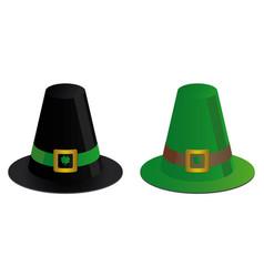 two irish hats vector image