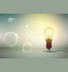 Yellow light bulb abstract background poster vector