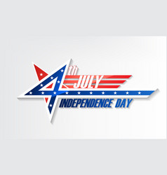 4th of july united stated independence day logo vector image