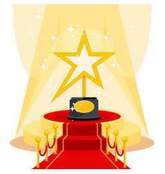 award on red carpet vector image