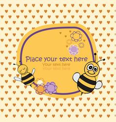 bee card vector image vector image