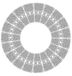 celtic mandala on white background vector image vector image