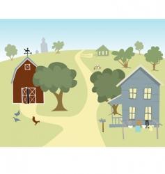 farm house landscape vector image vector image
