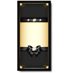 Greeting card black vector image vector image