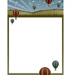 hot air balloon poster vector image vector image