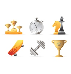Icons for sport vector image vector image
