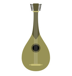 isolated mandolin icon musical instrument vector image