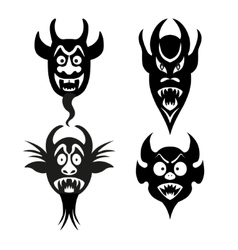 Set of infernal characters for the holiday of vector image vector image