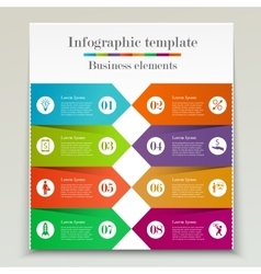 Banner infographic template vector image vector image