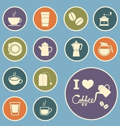 coffee and tea icon vector image vector image