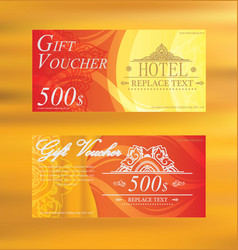 gift voucher two cards pattern thai business card vector image vector image
