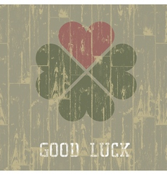 good luck retro symbol vector image