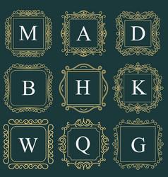 monogram emblem heraldic fashion sign vector image