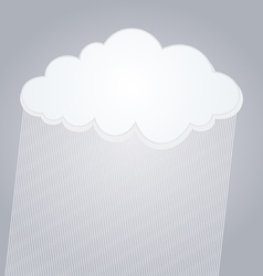 raining cloud vector image