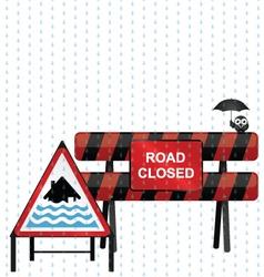 Severe Flood Warning vector image vector image