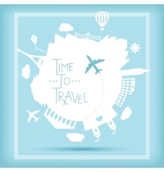 Time to travel concept vector image vector image