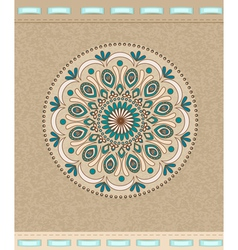 Vintage background with oriental ornaments and rib vector image vector image