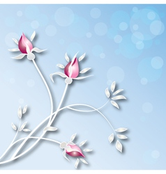 -background-with-roses vector image