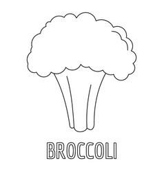 broccoli icon outline style vector image vector image
