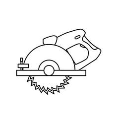 circular saw carpentry tool vector image vector image