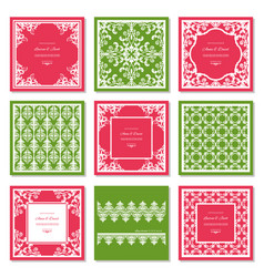 filigree frames and decorative panels set laser vector image