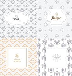 mono line graphic design templates - labels vector image vector image