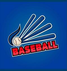 baseball word and equipment vector image vector image