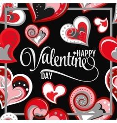 beautiful hand draw hearts vector image