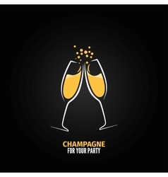champagne glass design party menu background vector image vector image