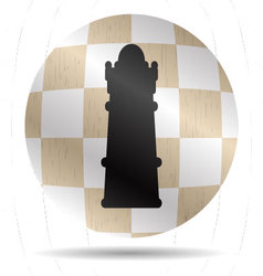 Icon chess queen vector image