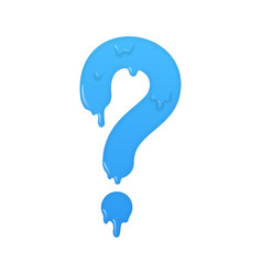 melting question icon ask symbol vector image vector image