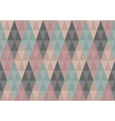 Triangles diamond seamless pattern vector image