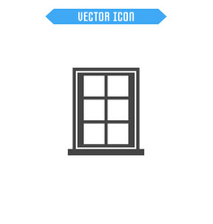 window flat icon vector image vector image