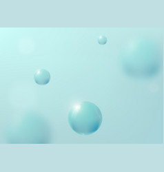 Abstract turquoise background with liquid fluid vector