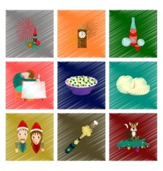 Assembly flat shading style icon christmas vector