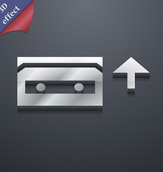 Audio cassette icon symbol 3D style Trendy modern vector