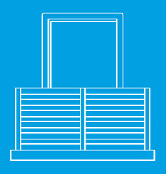 balcony icon outline style vector image