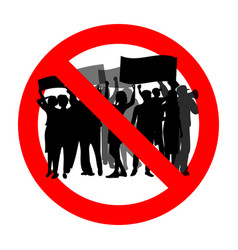 Ban rally and demonstrations political meeting vector